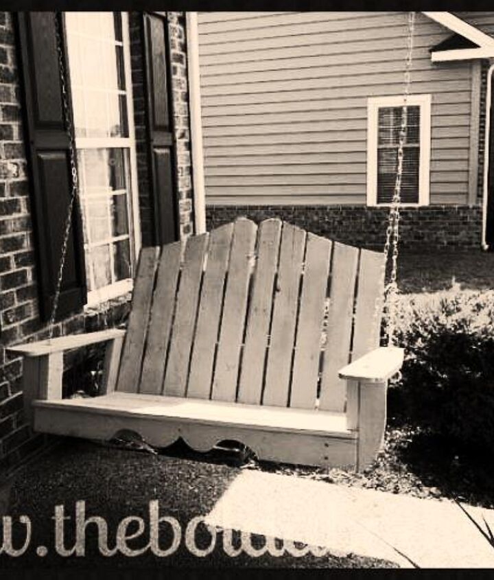 This has to be one of my favorite pallet projects - Gwen's porch swing. http://www.hometalk.com/b/830580/awesome-pallet-projects