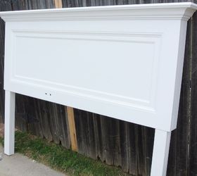 Genial Classic One Panel Old Door Headboard For A King Size Bed, Bedroom Ideas,  Painted