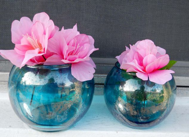 Faux Mercury Glass Vases Vase And Cellar Image Avorcor