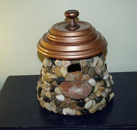 stone bird house, crafts