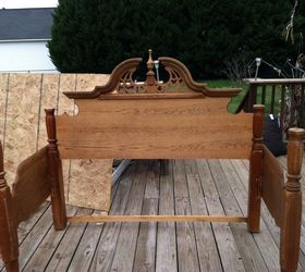 An Outdoor Bench Made From An Old Queen Bed Frame Hometalk