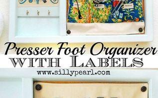 sewing machine presser foot organizer, crafts, how to, organizing, storage ideas
