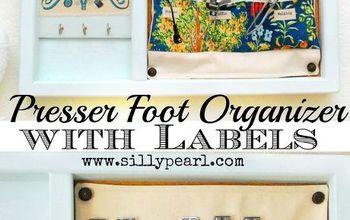 Sewing Machine Presser Foot Organizer