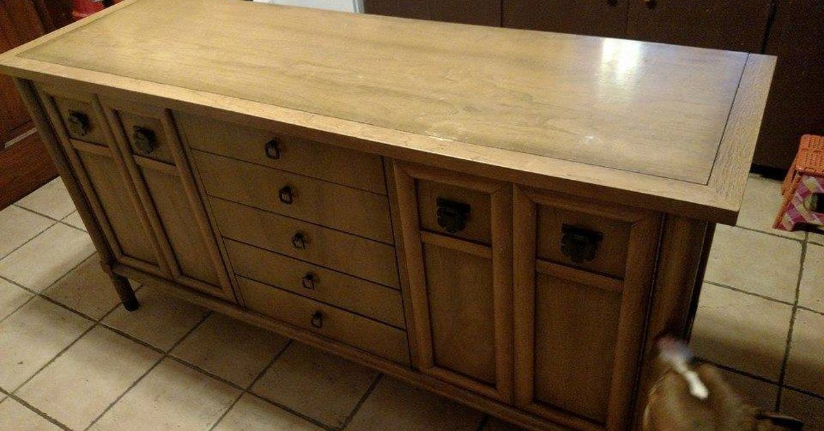 Rustoleum Paint Job >> Old Buffet to Kitchen Island! | Hometalk