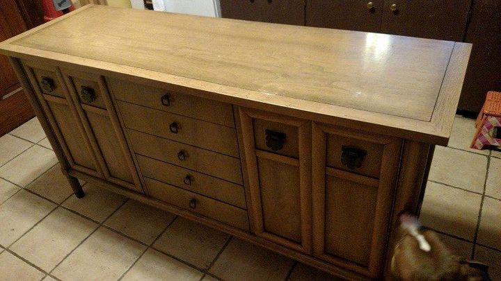 Old Buffet To Kitchen Island Design Painted Furniture Repurposing