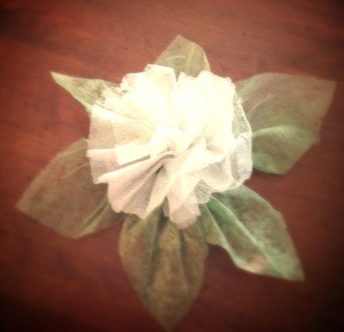 My first, but not last, dryer sheet flower.