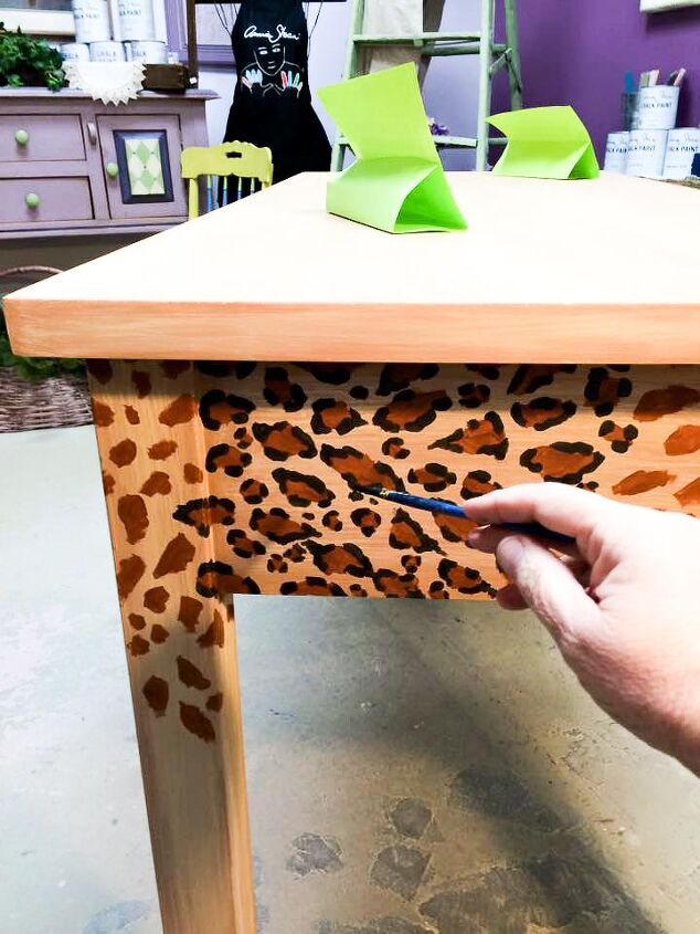Attractive How To Create A Fabulous Hand Painted Leopard Print Finish Hometalk Me01