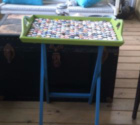 2 flea market find becomes a serving table for the front porch, crafts, painted furniture, repurposing upcycling
