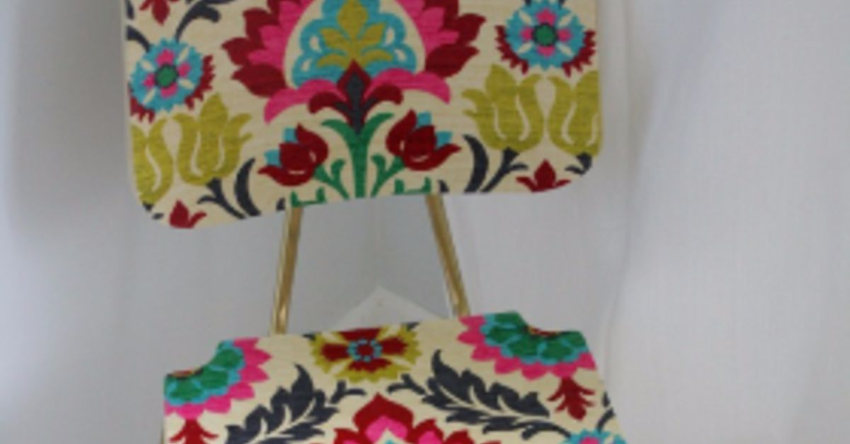 Quot Upholster Quot A Wood Chair With Fabric And Mod Podge Hometalk