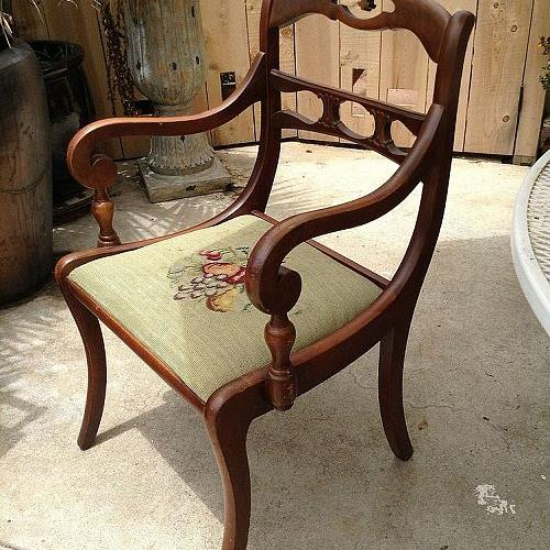 q flea market find 1 what to do with this chair, painted furniture