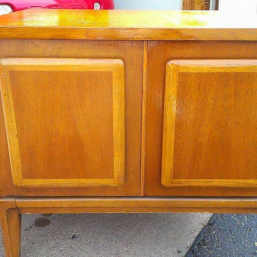 naturally repair wood with vinegar and canola oil  painted furniture  Half  done. Naturally Repair Wood With Vinegar and Canola Oil   Hometalk