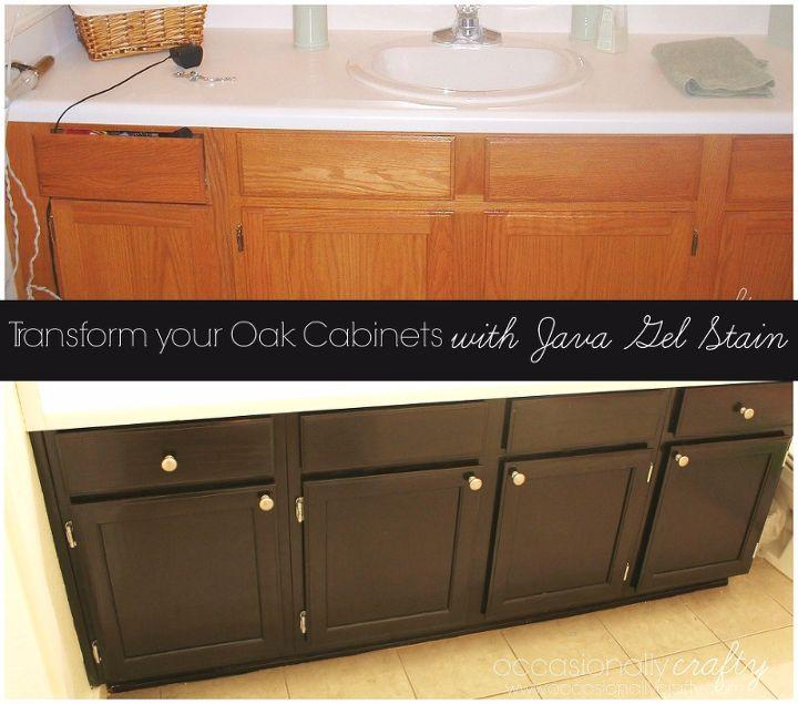 Update Your Cabinets With Gel Stain!