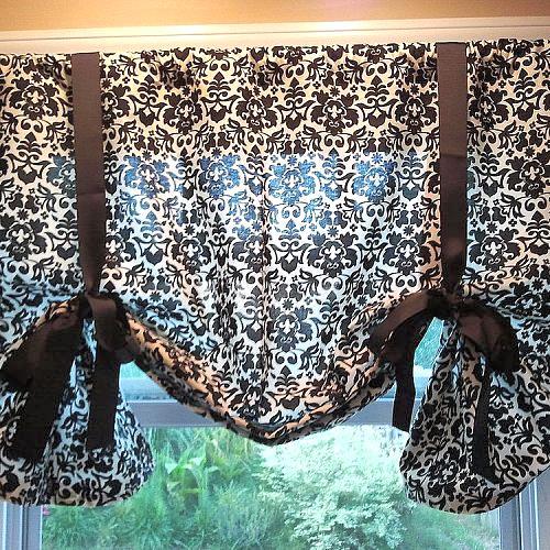 Diy No Sew Kitchen Curtains Crafts Home Decor Design Reupholster