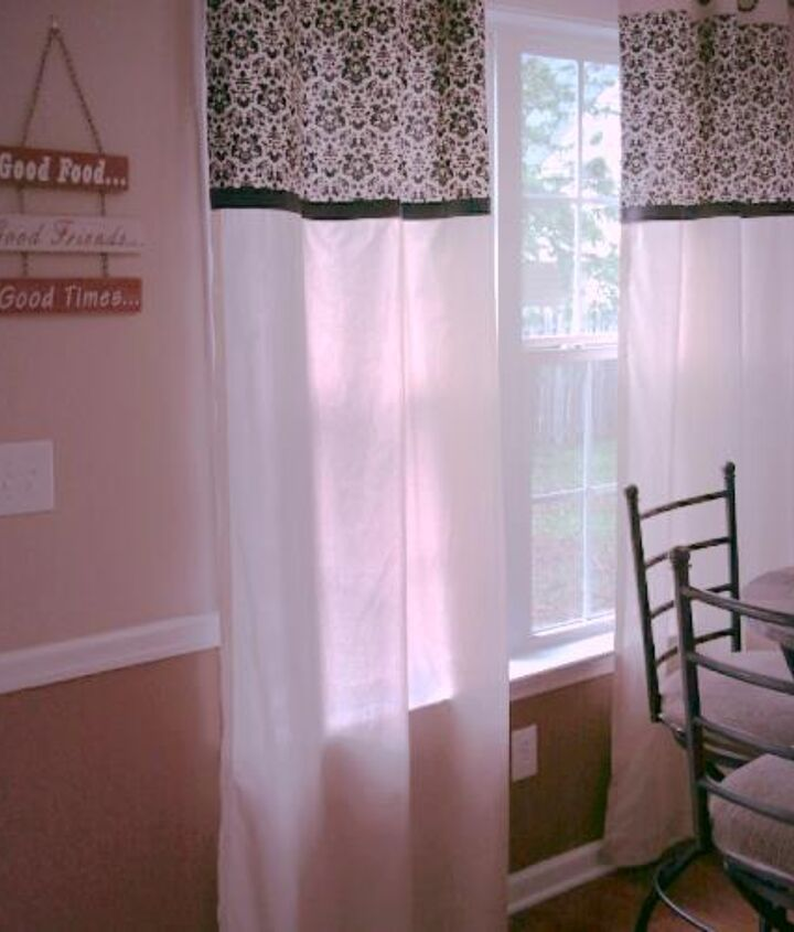 diy no sew kitchen curtains, crafts, home decor, kitchen design, reupholster, window treatments