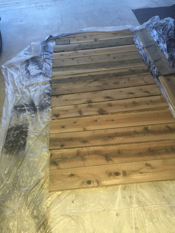 How To Create A Accent Wall With Cedar Plank Fencing Hometalk