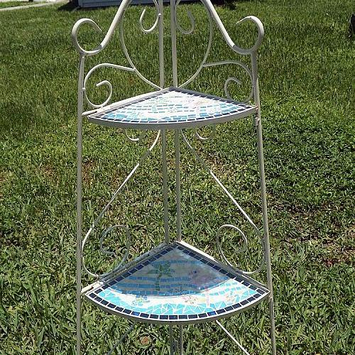 new life to a old dated plant stand, painted furniture