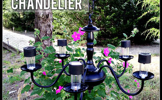 solar powered chandelier, diy, electrical, lighting, outdoor living, Solar Powered Chandelier