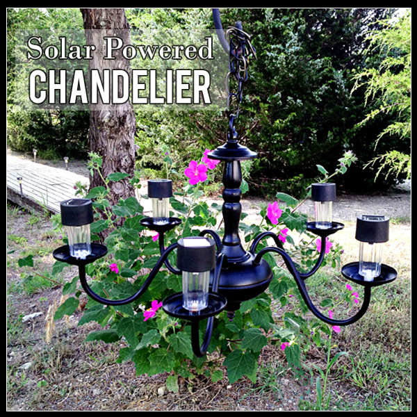 Solar Powered Chandelier Diy Electrical Lighting Outdoor Living
