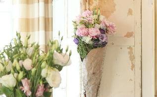 diy chicken wire flower basket, crafts, home decor