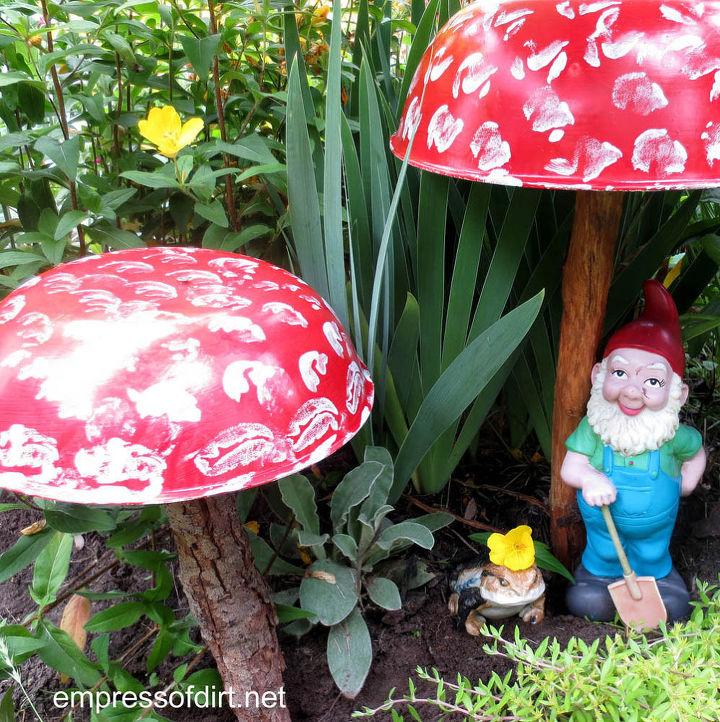 start an enchanted garden with a homemade toadstool hometalk