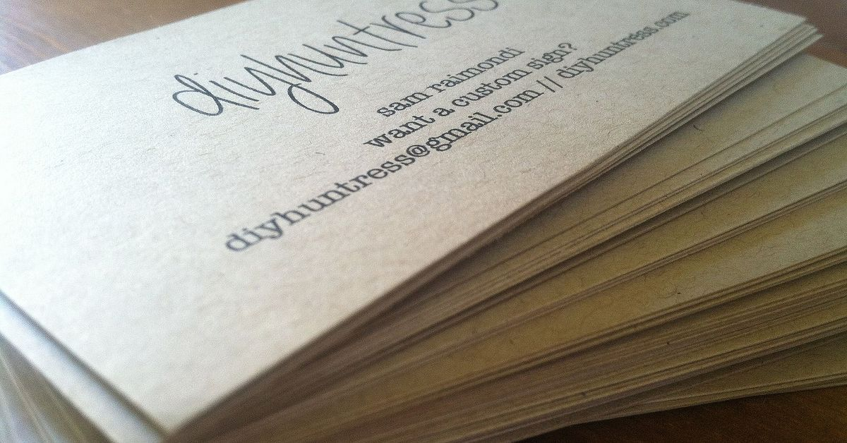 Make your own business cards for cheaper hometalk reheart Images