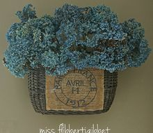 french style re purposed bike basket, crafts