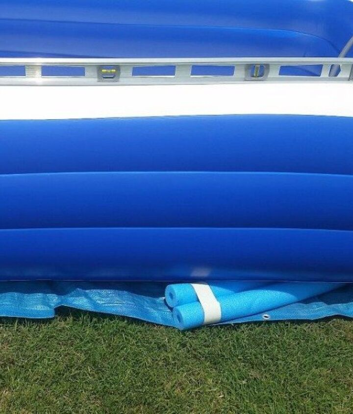 s 10 insanely creative ways to use pool noodles outside the pool, crafts, repurposing upcycling, Level your backyard pool