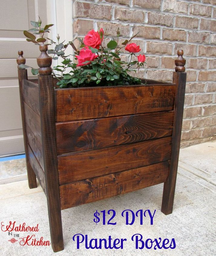 12 diy planter boxes, container gardening, curb appeal, diy, gardening, how to, woodworking projects