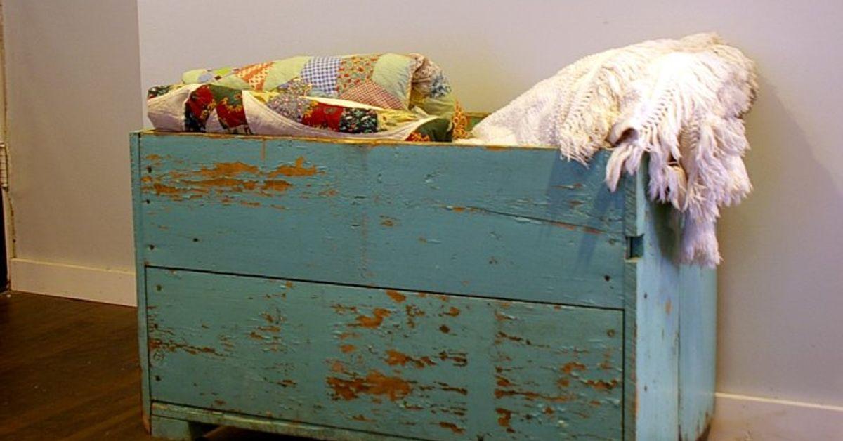 My Grandma S Old Carrot Bin Becomes Our Living Room Storage Box Hometalk