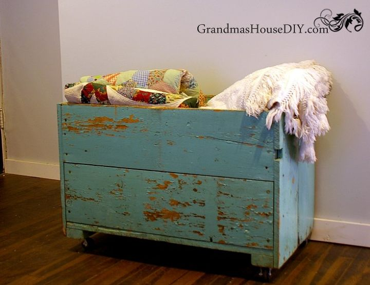 living room storage chest. my grandma s old carrot bin becomes our living room storage box  repurposing upcycling My Grandma Old Carrot Bin Becomes Our Living Room Storage Box