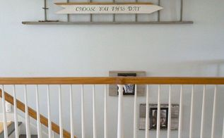 striking wall decor using old wood siding and a ladder, diy, repurposing upcycling, wall decor