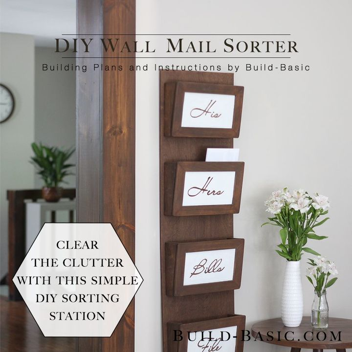 diy wall mail sorter, how to, organizing, wall decor, woodworking projects