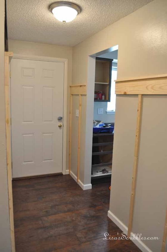 creating an inviting entry on a budget, diy, foyer, painting, storage ideas, wall decor, woodworking projects