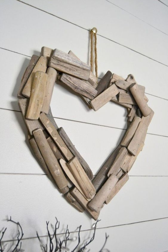 diy driftwood heart wreath, crafts, seasonal holiday decor, valentines day ideas, wreaths