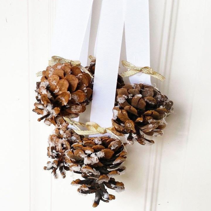 Snowy Pinecone Door Hanger Crafts Doors