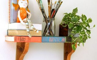 diy shelf from faux vintage books, diy, repurposing upcycling, shelving ideas