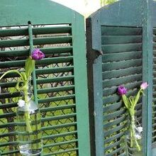 using old shutters in the garden, gardening, landscape, repurposing upcycling, Originally the shutters were joined together to create a privacy screen