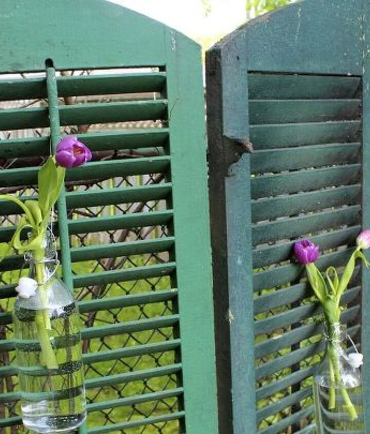 Originally the shutters were joined together to create a privacy screen.