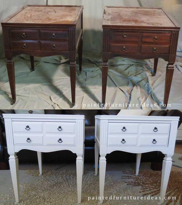 Antique End Tables Repainted White Hometalk