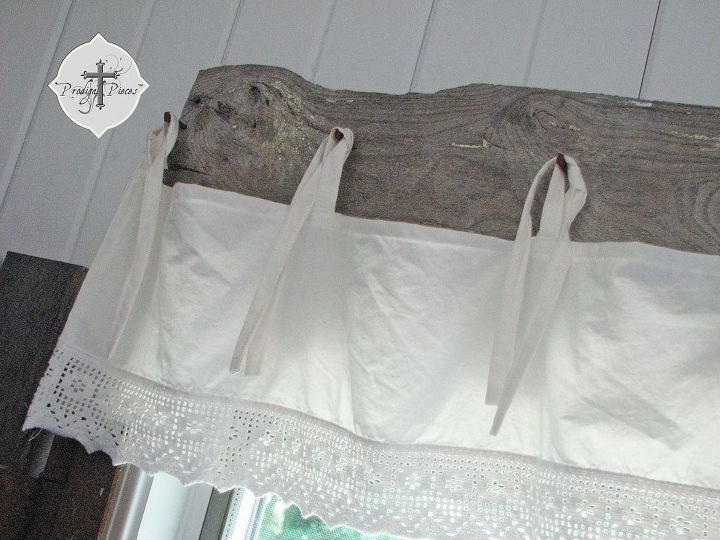 Diy Barn Wood Amp Bedskirt Valance Hometalk