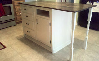 old base cabinets repurposed to kitchen island, diy, how to, kitchen cabinets, kitchen design, kitchen island, outdoor furniture, painted furniture, repurposing upcycling, rustic furniture, woodworking projects