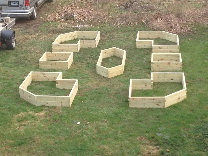 raised beds can be made in cool shapes and patterns, gardening, raised garden beds