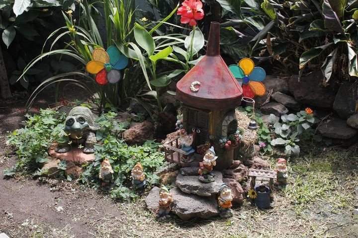 gnome house in my garden, crafts, gardening, outdoor living