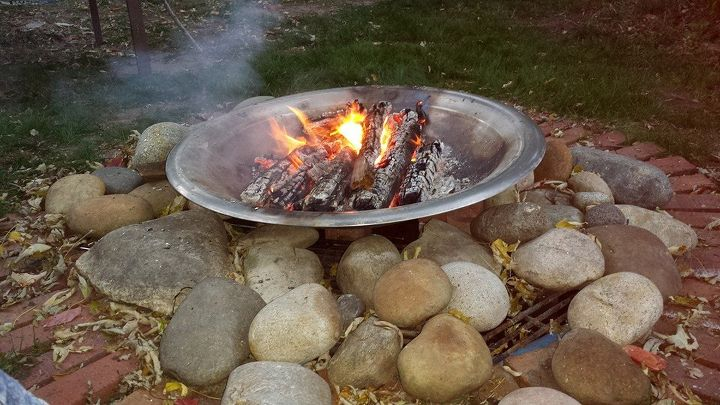 winter fire pit summer fountain, outdoor living, ponds water features