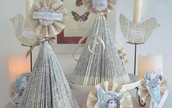 DIY Vintage Shabby Shic Christmas Tree & Christmas Ornaments