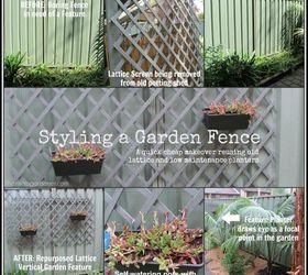 Styling a Garden Fence Makeover Hometalk