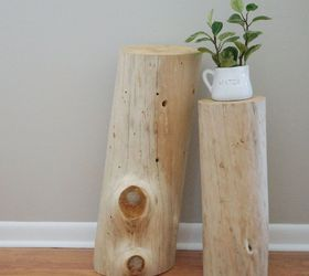 Bleached Tree Stump Tables, Diy, Home Decor, Painted Furniture, Repurposing  Upcycling