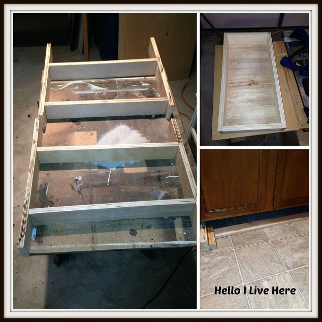 under cabinet drawers, diy, how to, kitchen cabinets, kitchen design,  woodworking