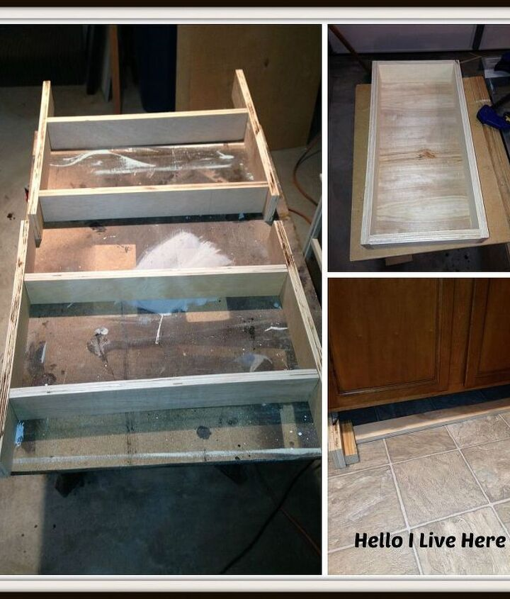 Building the drawers and cradles.