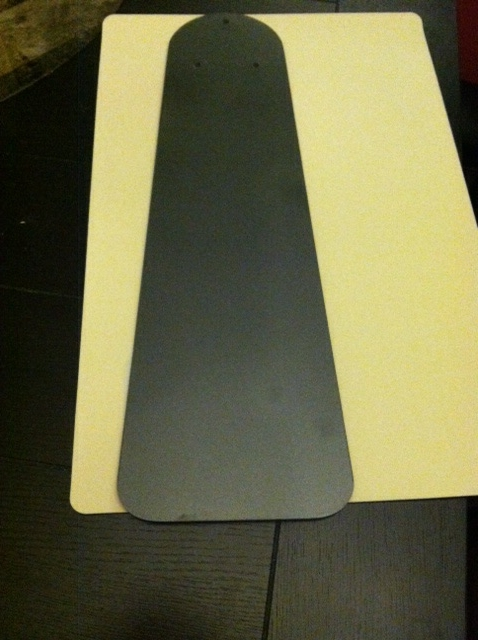 Spray painted the nice side of the fan blade from a brown color to a grey metallic color.